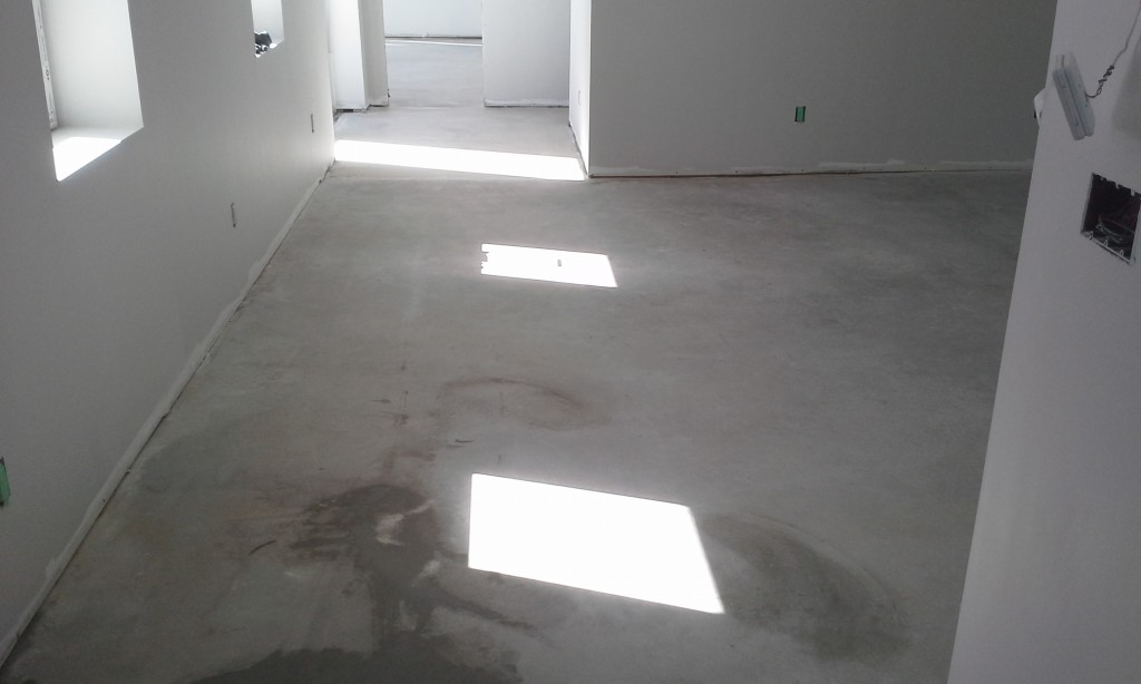 Before Polished Concrete